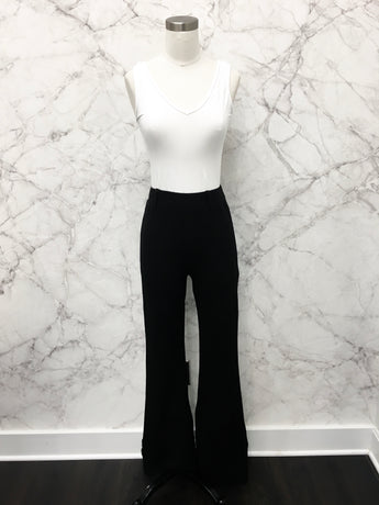 Belle Flare Leg Trousers in Black - FINAL SALE