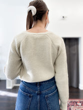Load image into Gallery viewer, Suze Cropped Cardigan in Ivory