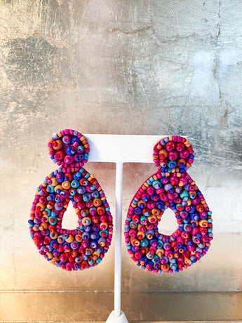 Kyoto Beaded Teardrops in Multi