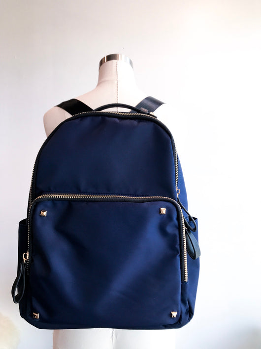 Navy+Gold Backpack