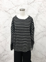 Monette Sweater in Black Stripe