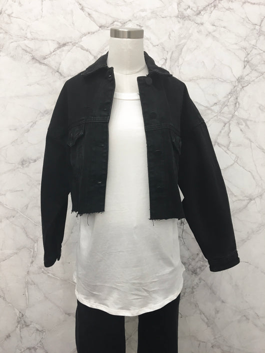 Frances Denim Jacket in Black