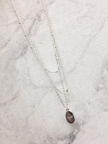 Pretty Little Silver Layers Necklace
