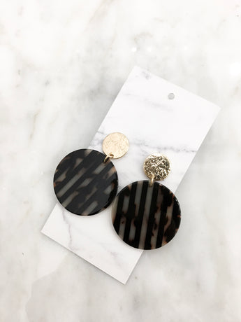 Stripes for Life Earrings in Black
