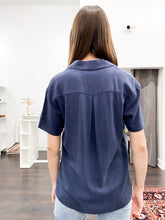 Load image into Gallery viewer, Sage Blouse in Navy