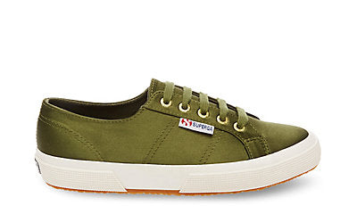 Deep Green Satin Sneakers
