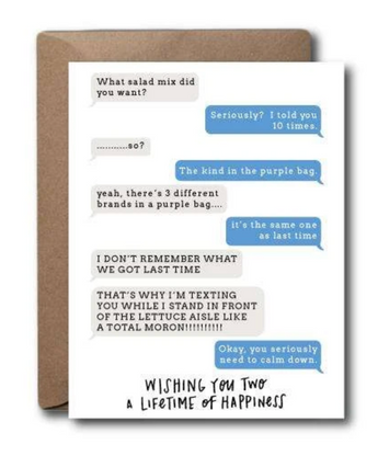 Wishing You Two A Lifetime of Happiness, Texting Card