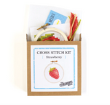 Mini Strawberry DIY Cross Stitch Kit