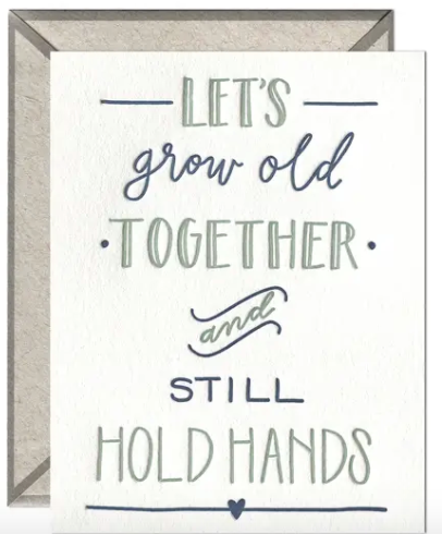 Still Hold Hands Greeting Card