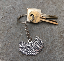 Load image into Gallery viewer, Dissent Collar Keychain in Silver