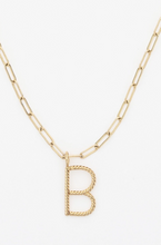 Load image into Gallery viewer, Aspen Initial Necklace in Gold - V