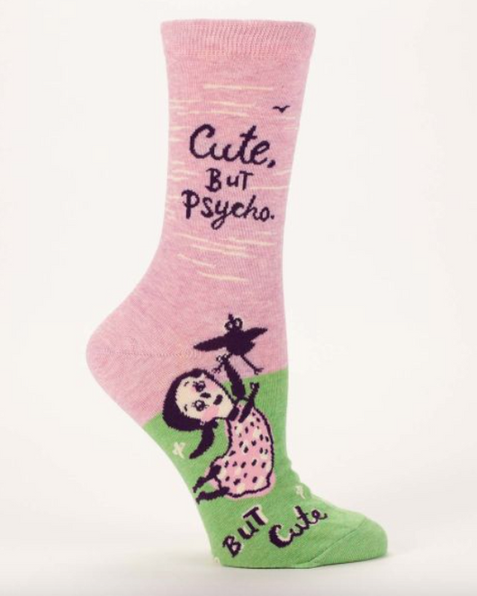 Cute But Psycho, But Cute Crew Socks