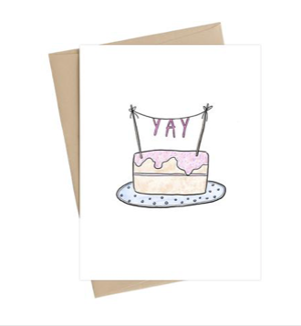 YAY Cake Birthday Card