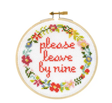 Load image into Gallery viewer, Please Leave by Nine DIY Cross Stitch Kit