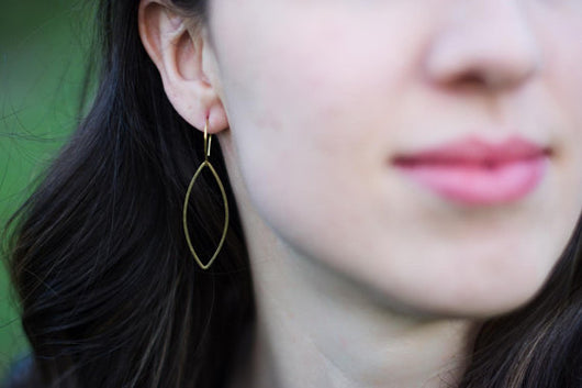 Margaret Earring in Raw Brass by Bloom + Thistle