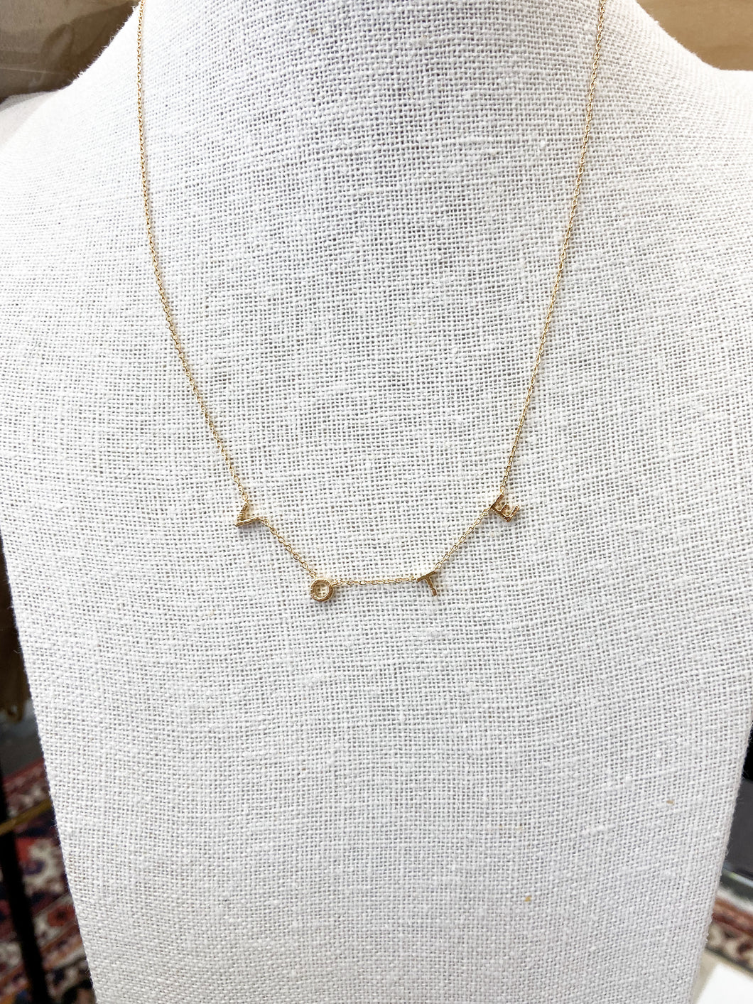 VOTE Necklace in Gold