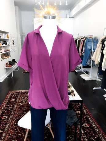 Mulberry Top in Plum