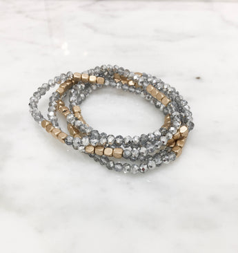 Carson Stretch Bracelets - set of five
