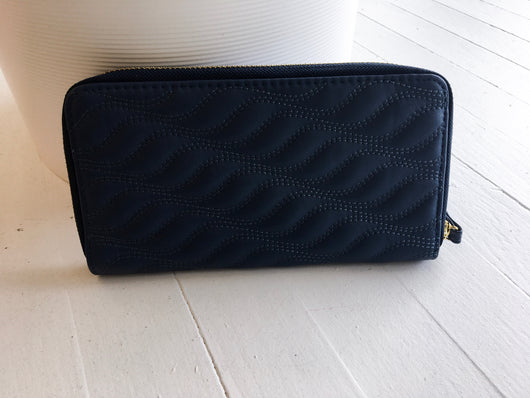 Accordion Wallet in Blue Waves