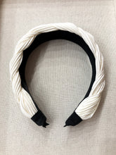 Load image into Gallery viewer, Veronica Braided Headband in Ivory