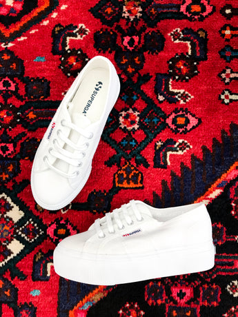 Superga Platform Sneaker in White