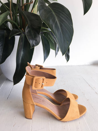 Rumor Ankle Strap Sandal in Yellow