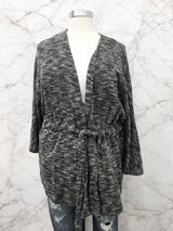 Carmen Belted Cardigan in Charcoal
