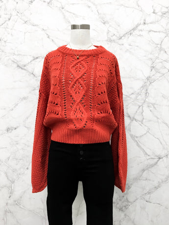 Jonas Sweater in Burnt Orange