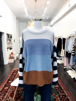 Twig Sweater in Blue/Silver