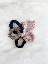 Load image into Gallery viewer, Solid Satin Mini Scrunchie Set of 6