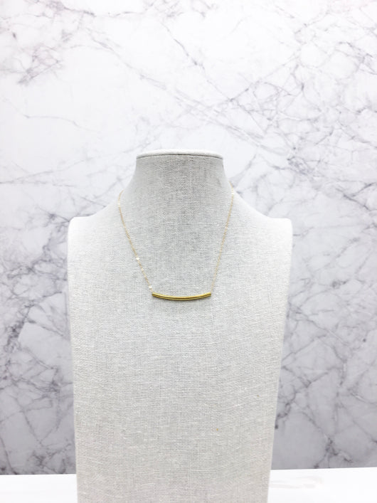 Isobel II Necklace in Raw Brass by Bloom + Thistle