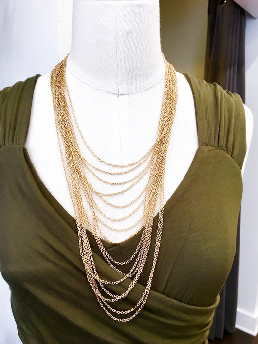 All the Layers Necklace in Gold