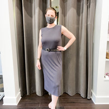 Load image into Gallery viewer, Ty Ribbed Dress in Charcoal