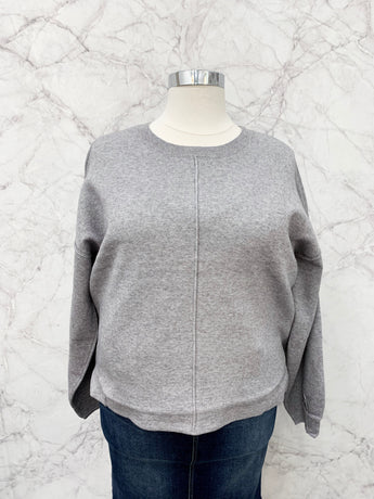 Danica Sweater in Heather Grey