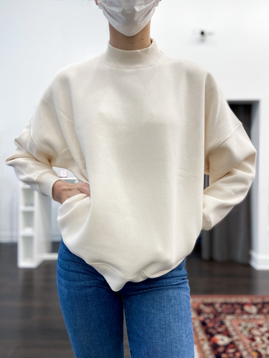Troy Sweatshirt in Cream - FINAL SALE