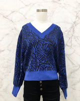 Wichita Sweater in Zebra Blue