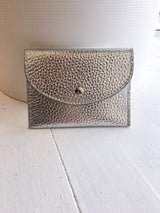 Cracked Card Case in Silver