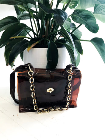 Michelina Bag in Brown Clear