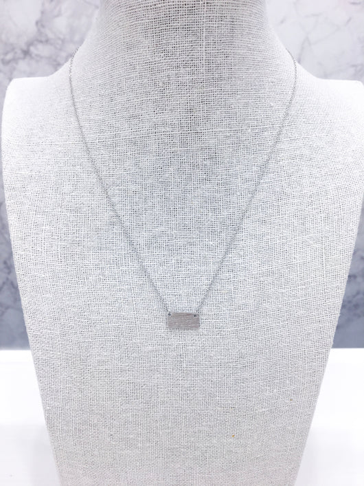 Dainty Necklace - Kansas Pride in Silver