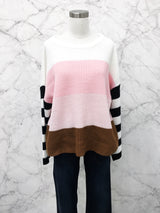 Twig Sweater in Pink/Ivory