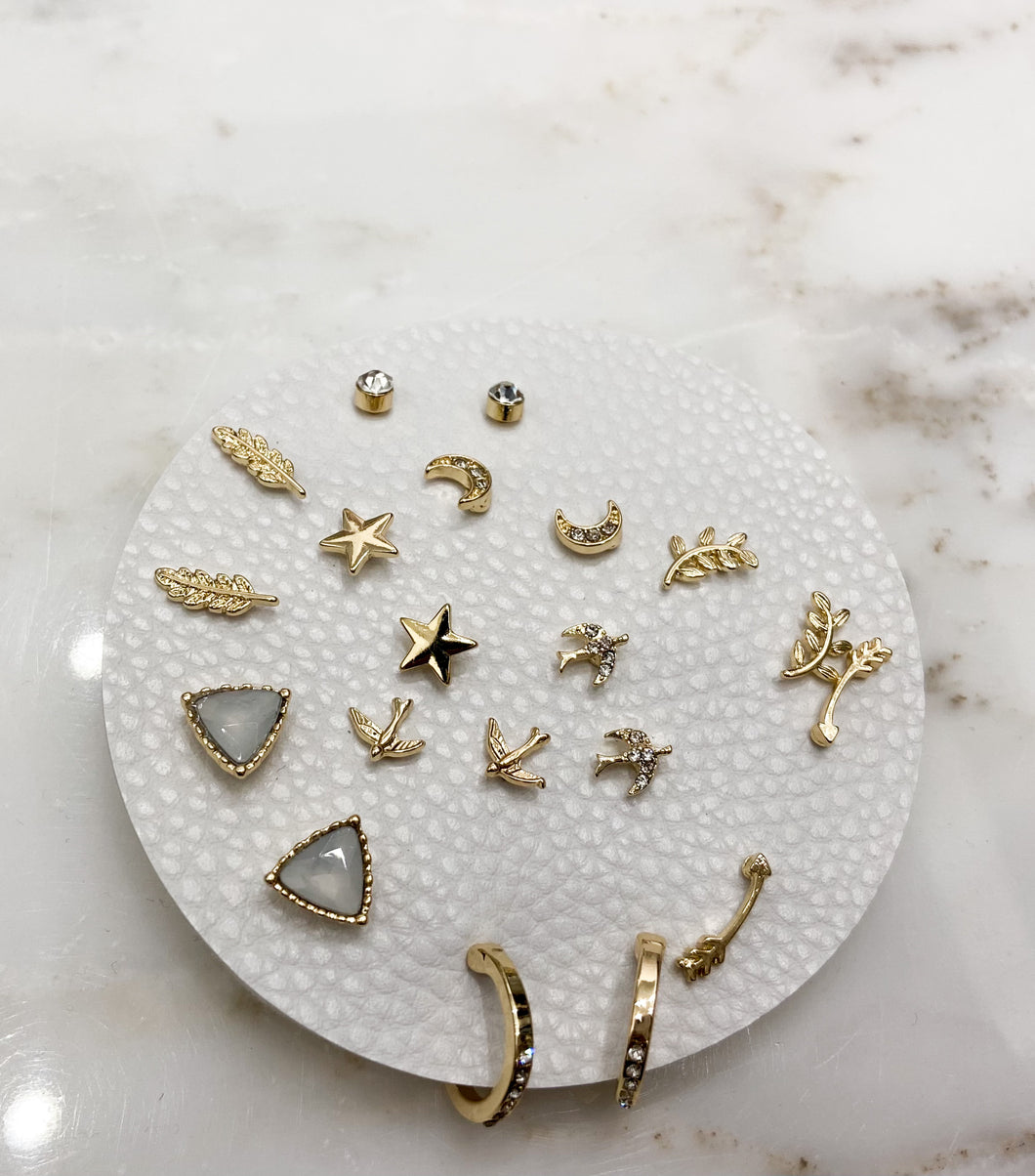All Your Faves Stud Set in Gold