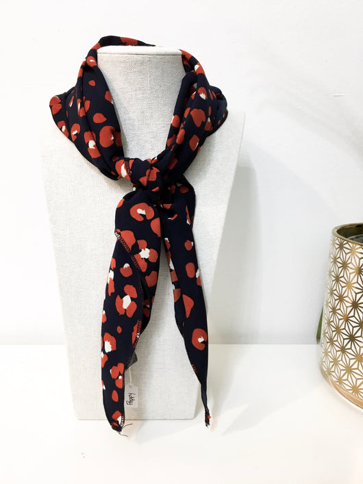 Poppy Scarf in Navy
