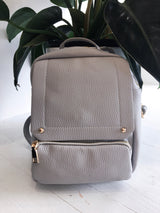 Double Pocket Grey Backpack