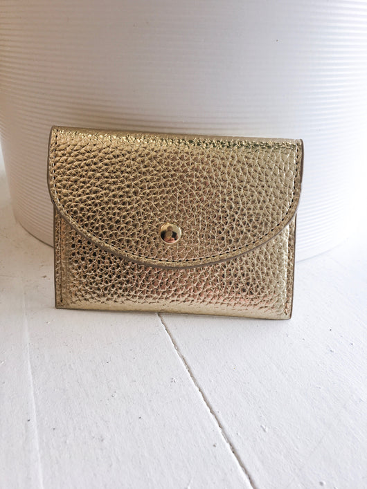 Cracked Card Case in Metallic Gold