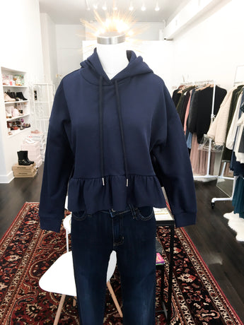 Joey Hooded Top in Navy