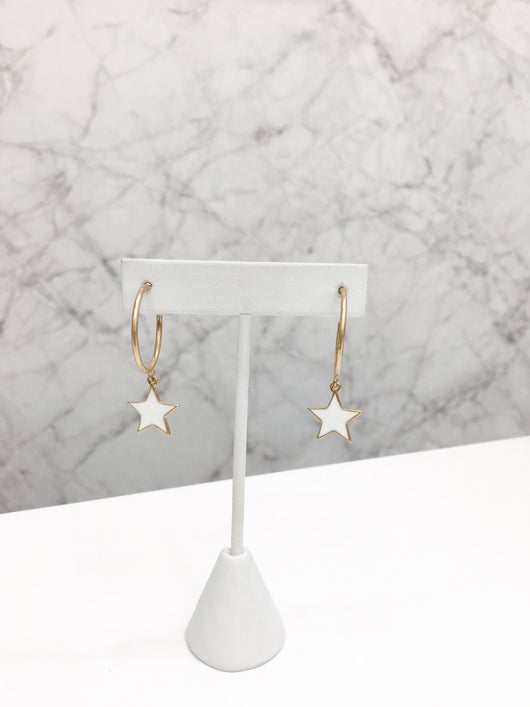 Like a Star Hoops in White