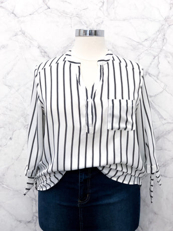 Frasier Blouse in Stripes