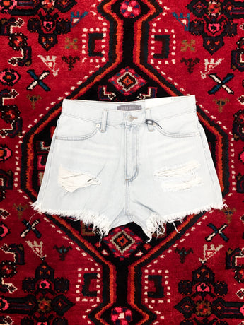 Heat Wave Frayed Denim Shorts - Final Sale