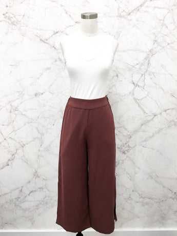 Best Ever Wide Leg Trousers in Mauve - Final Sale