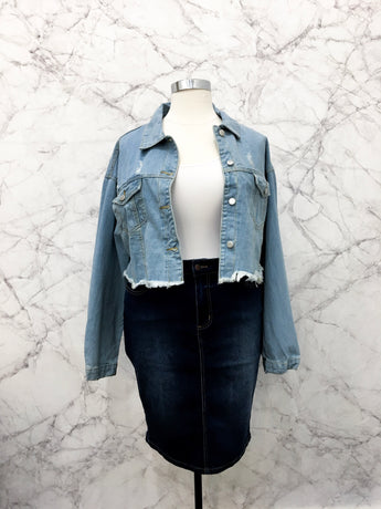 Marilyn Cropped Denim Jacket